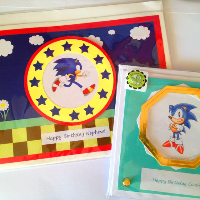 Sonic The Hedgehog Birthday Cards Cards Pinterest Hedgehogs