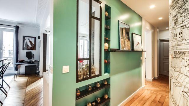Couloir  astuces déco, peinture, papier peint Color tile