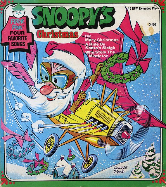 Snoopy S Christmas Record Cover Album Cover Art Ds And