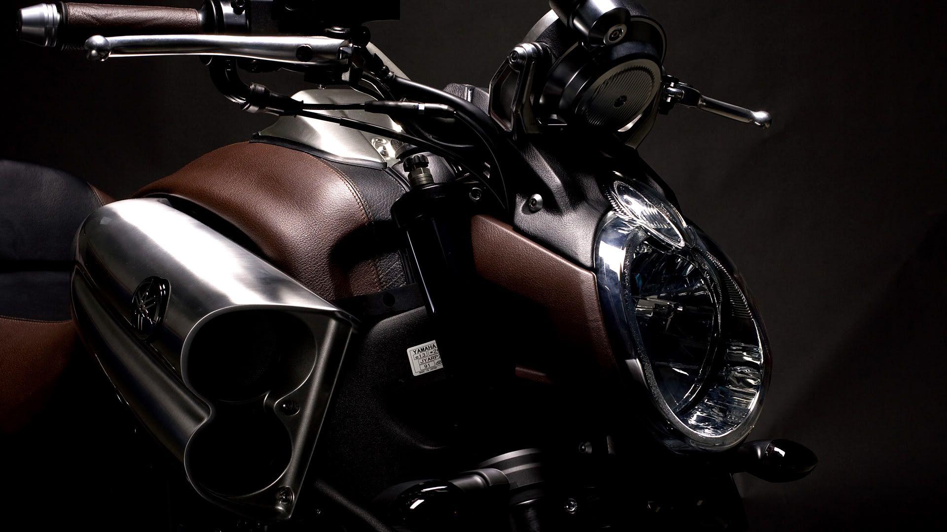 Yamaha V Max Head Lamp Moto HD Wallpaper