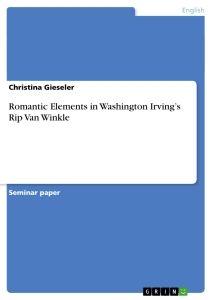 Rip Van Winkle Essay - Term Paper