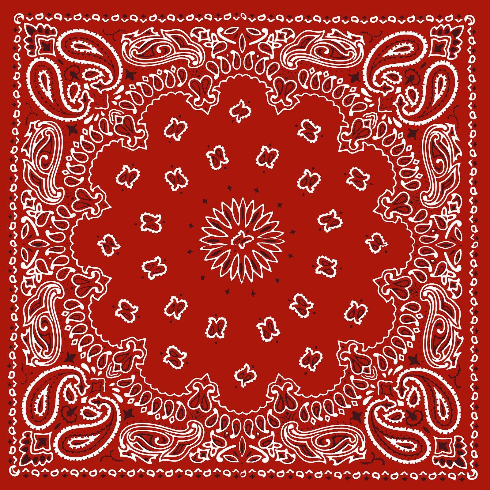 Printable Wallpaper: RED BANDANA, PRINTABLE BACKGROUND