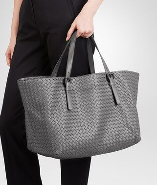 BOTTEGA VENETA - NEW LIGHT GREY INTRECCIATO NAPPA TOTE BAG Follow my blog  at yukovadesign.tumblr.com to stay fashion-updated 54ba5ec913ed2
