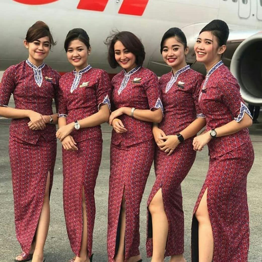 Model Kebaya Batik Air Perkumpulan Wanita Wanita Seragam Wanita