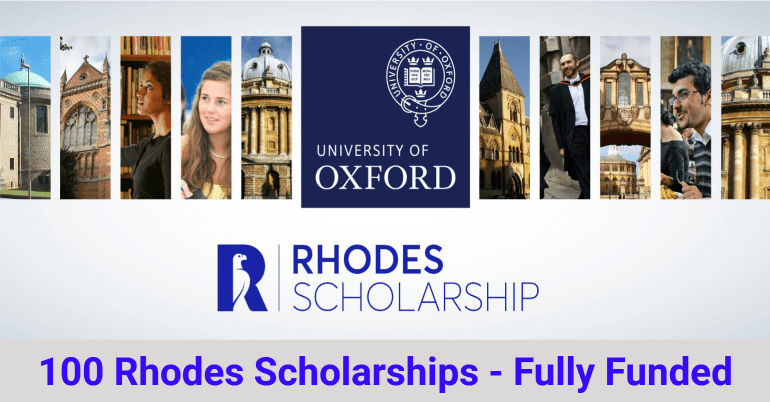 Fully Funded - Rhode Scholarship 2021 in the UK in 2020 ...