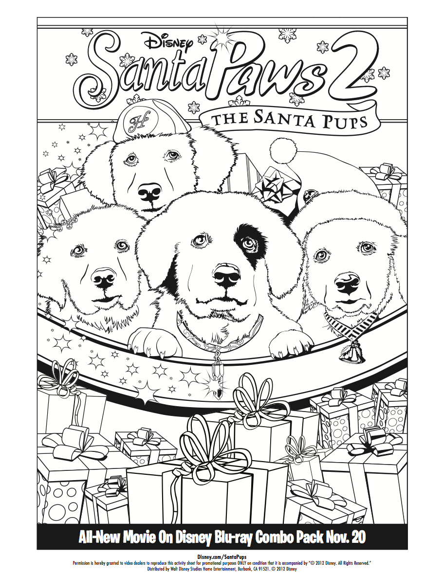 Color with the Santa Pups! | Holiday Activities | Pinterest | Pup ...