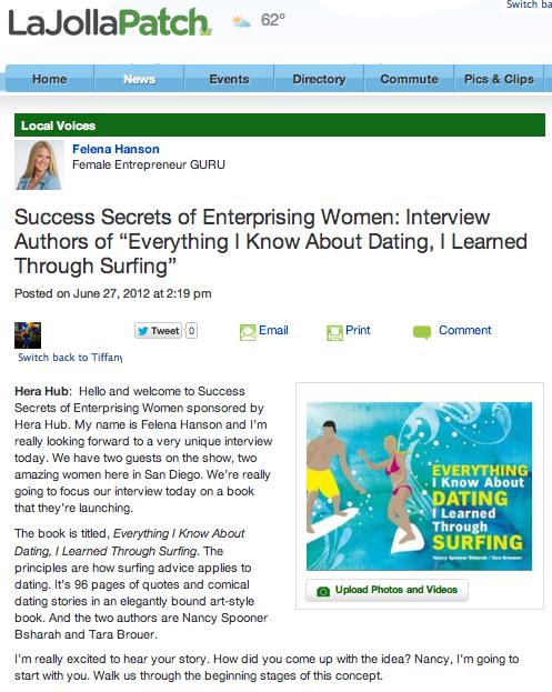 """(62712) LA JOLLA PATCH """"Success Secrets of Enterprising"""