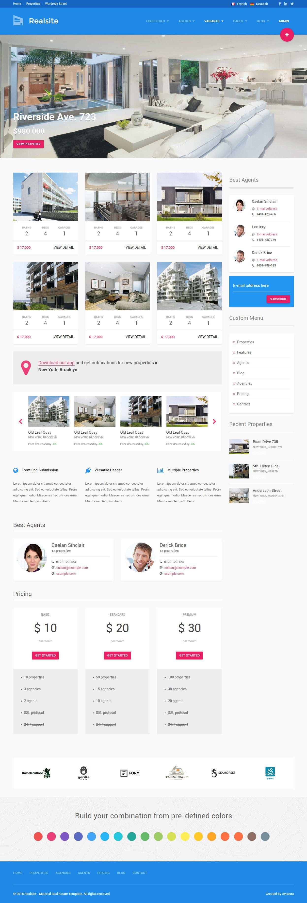 Realsite is premium responsive real estate template bootstrap free premium responsive real estate website templates are perfect templates for any real estate agency try this best html real templates for your next pronofoot35fo Gallery