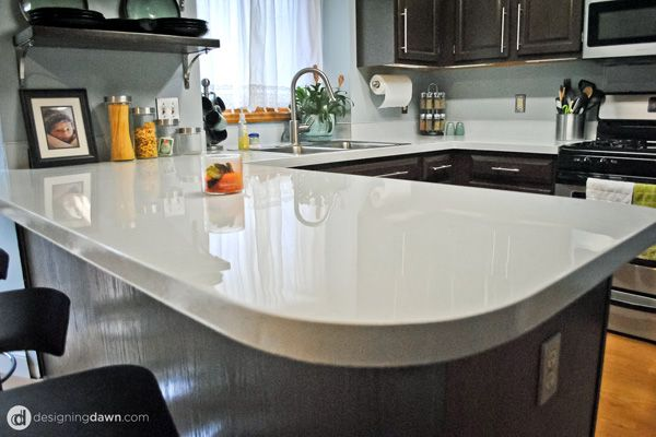 6 Countertops That Are Super Easy To Diy Inexpensive Kitchen Countertops Painting Kitchen Countertops Diy Kitchen Countertops