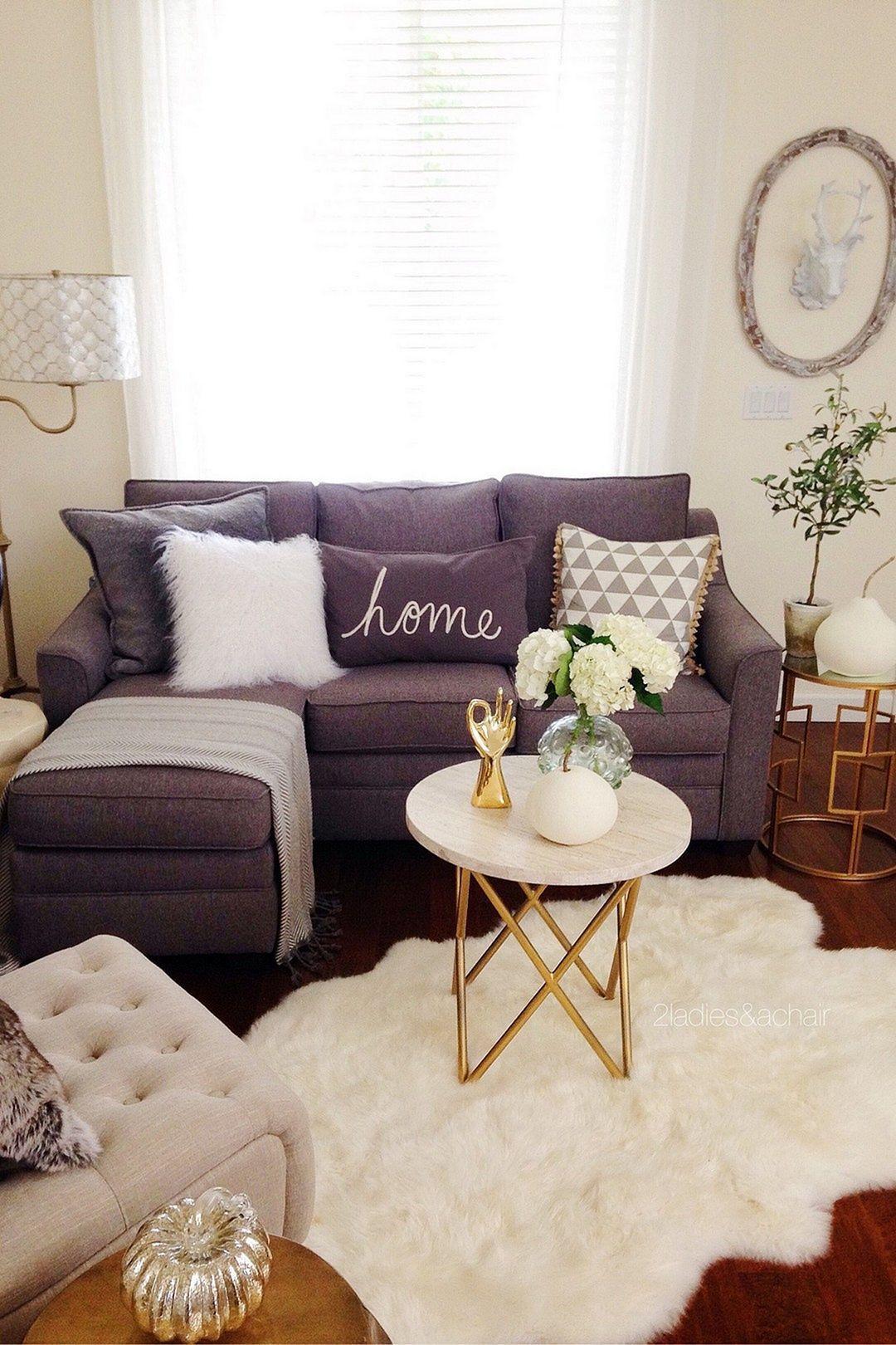 el color del sofá Muebles Grises, Sala De Estar, Casas Pequeñas, Sala  Dormitorio