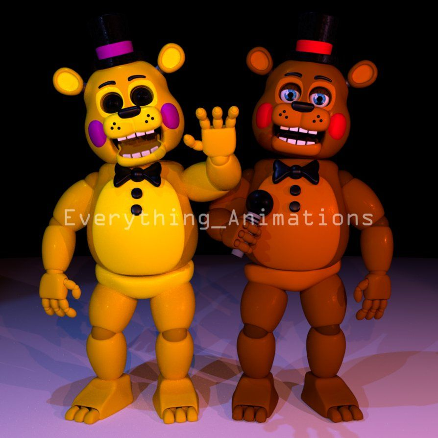 Toy Golden Freddy And Toy Freddy By Everythinganimations Freddy Toys Tigger
