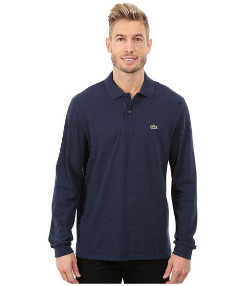LACOSTE Long Sleeve Classic Chine Pique Polo. #lacoste #cloth #shirts & tops