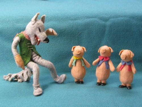 Early Baps Edith Von Arps Bad Wolf Three Pigs Storybook Dolls Handmade | eBay