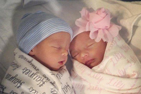cc173bf7a INFANTEENIE BEENIE twins baby girl or baby boy newborn hospital hat ...