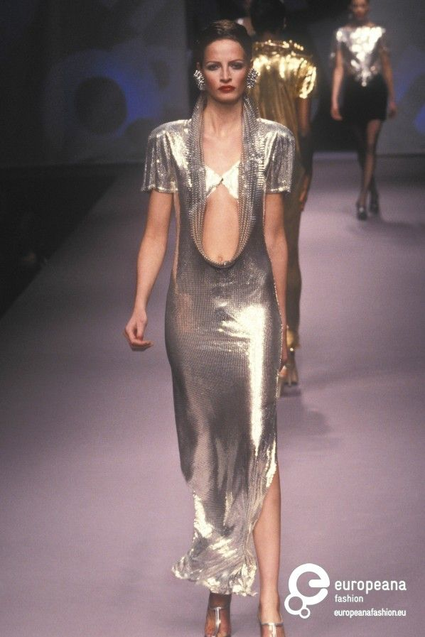 wedding outfit from paco rabanne haute couture spring 1998