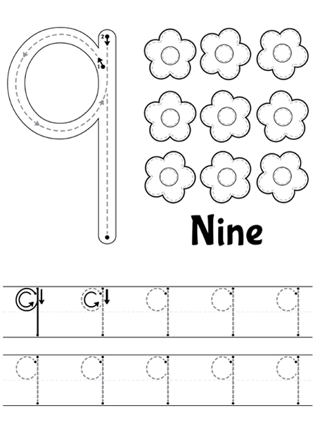 Tracing Worksheets Numbers 120 Number worksheets