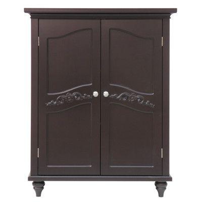 Double-Door Floor Cabinet - Dark Espresso
