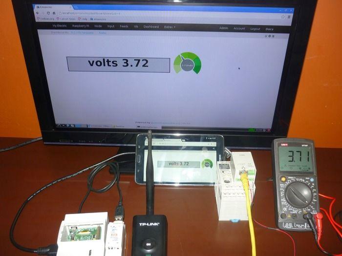Raspberry Pi + Openenergymonitor + PLC Panasonic With Python Via Ethernet