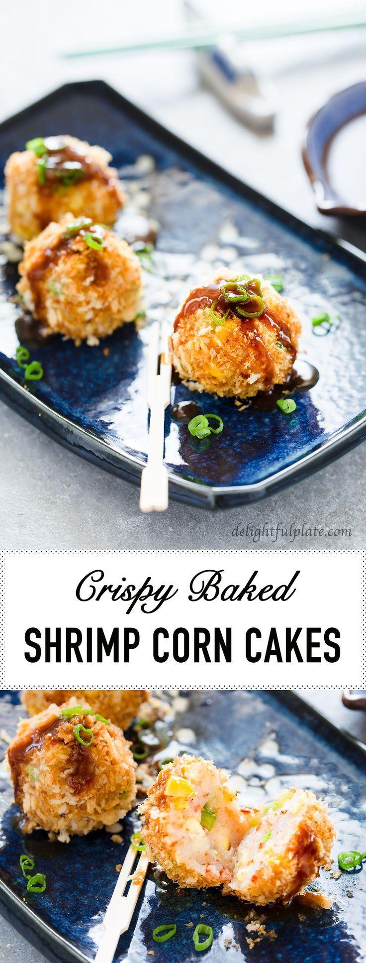 Crispy baked shrimp corn cakes recipe baked shrimp