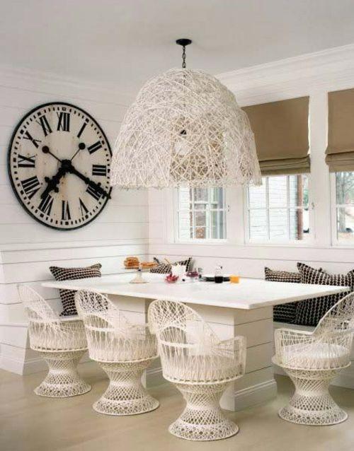 wandgestaltung ideen wanduhr groß xxl speisezimmer originell - wanduhr design wohnzimmer