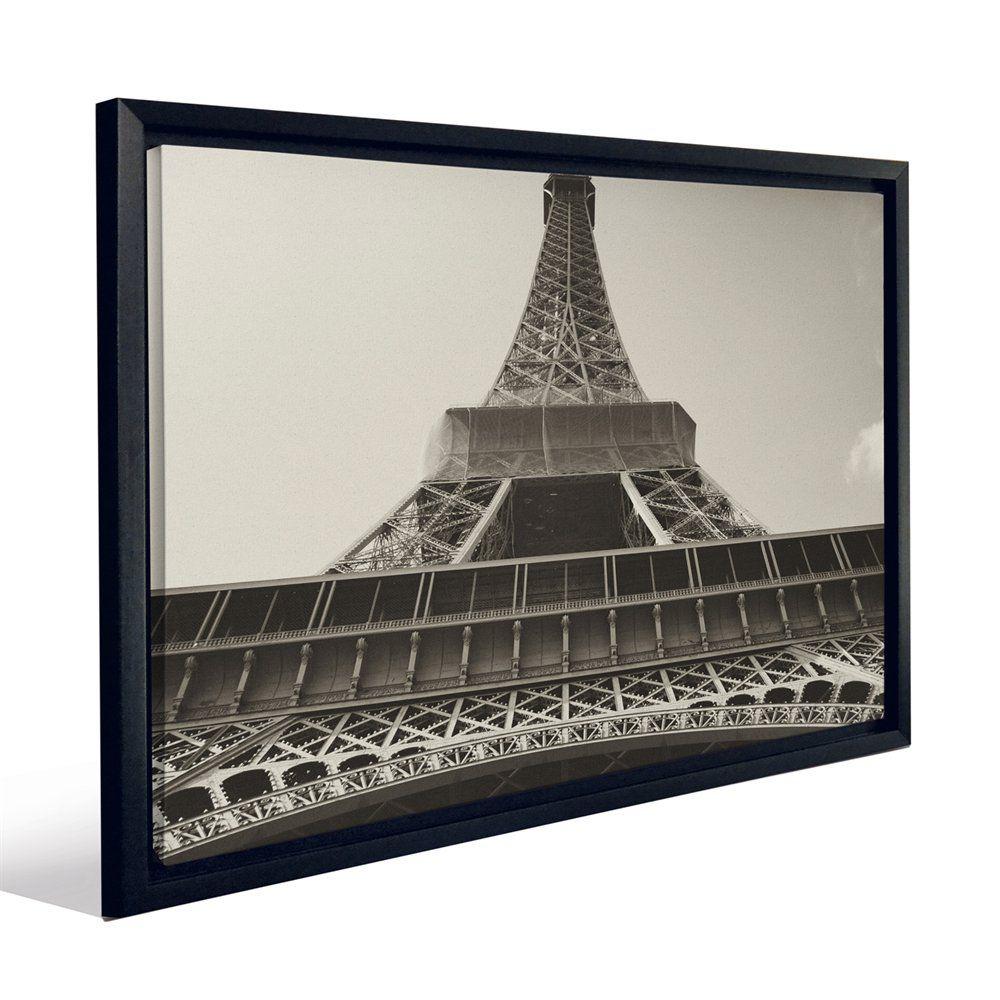 Master bedroom artwork  JP London FCNV Eiffel Tower Black White Paris Framed Art