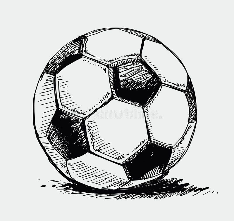 Photo About Vector Vintage Hand Drawn Of Ball Illustration Of Circle Sketch Supply 20942538 Ball Drawing Soccer Ball Soccer Tattoos