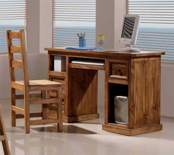 Escritorio cholula terrak home escritorios muebles - Escritorios rusticos de madera ...