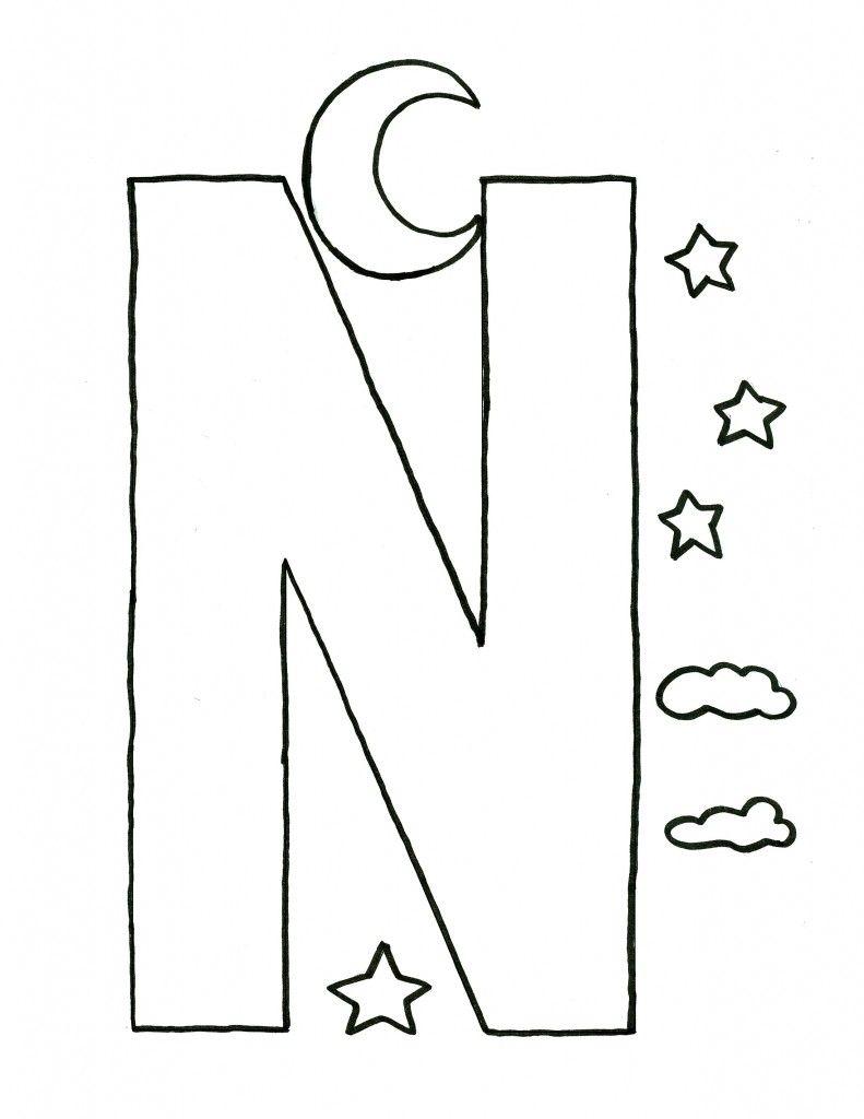 free alphabet coloring pages letters kleurplaten pinterest