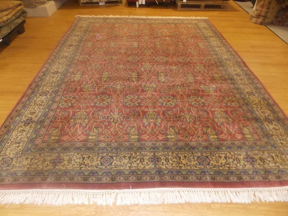 8 9 X 12 2 Red Beige Green Blue Hand Knotted Wool Sino Persian