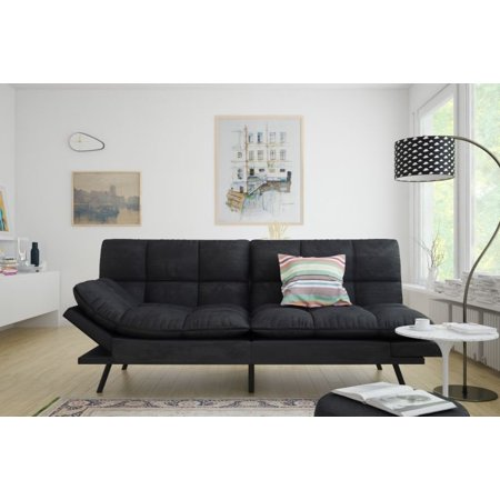 Futon Sofa With Armrest And Cupholders By Naomi Home Color Gray Walmart Com Futon Sofa Sofas For Small Spaces Futon