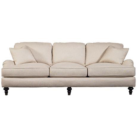 Sloane Linen Off-White Sofa