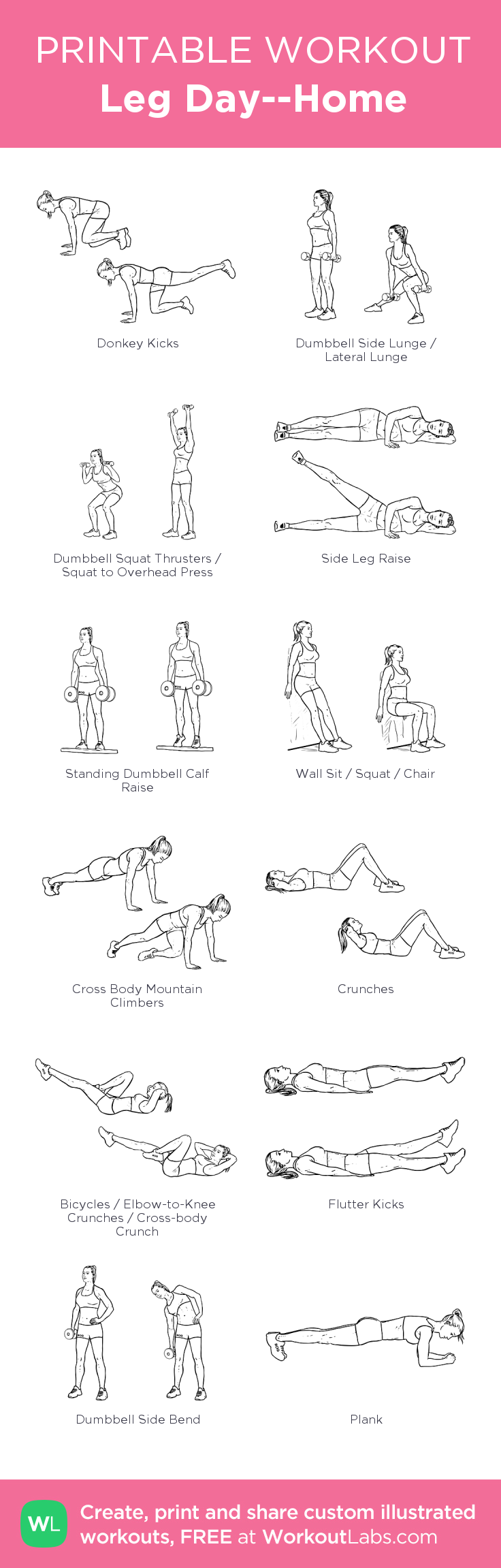 Workout Leg Visual At HomeMy • Day Created Click 0PkwOX8nN