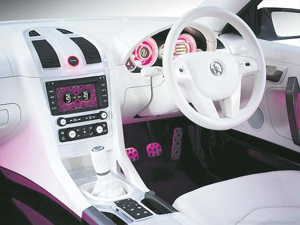 White Pink And Black Car Interior I Would Replace The With Blue Or Purple