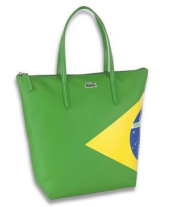 a909e4f9f5d0 Lacoste Brasil Flag Tote Bag