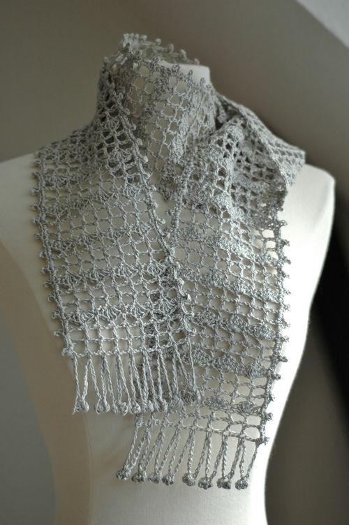 free japanese lace scarf crochet pattern   Crochet - scarves, shawls ...