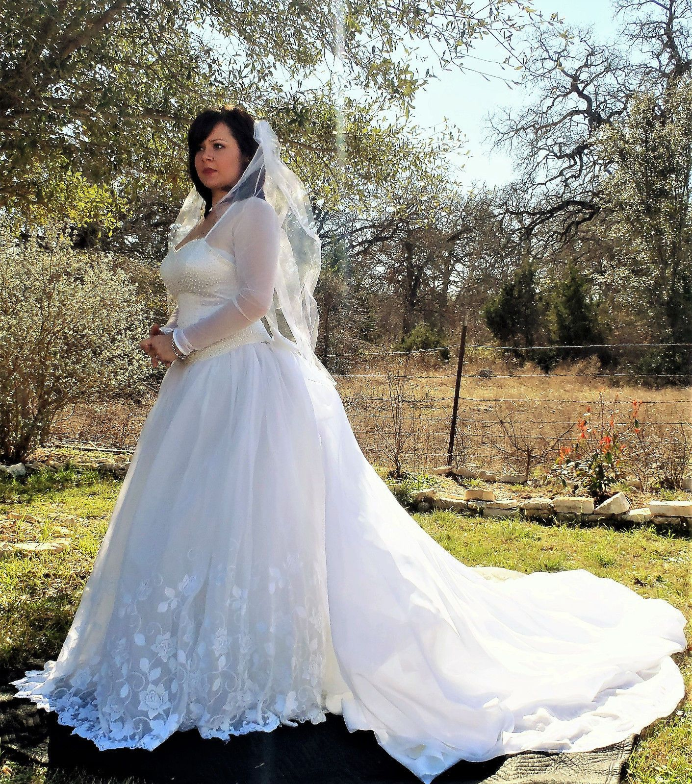 Moonlight White Ballgown Wedding Dress with Detachable