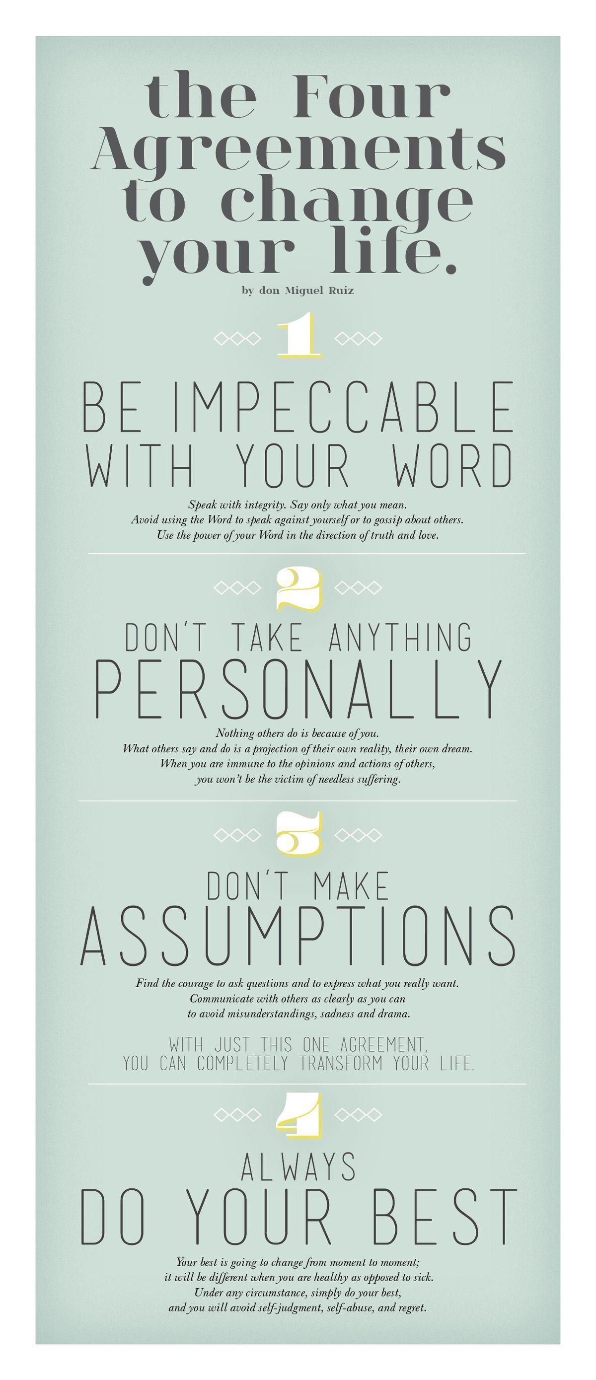 The Four Agreements To Change Your Life English Is Fun