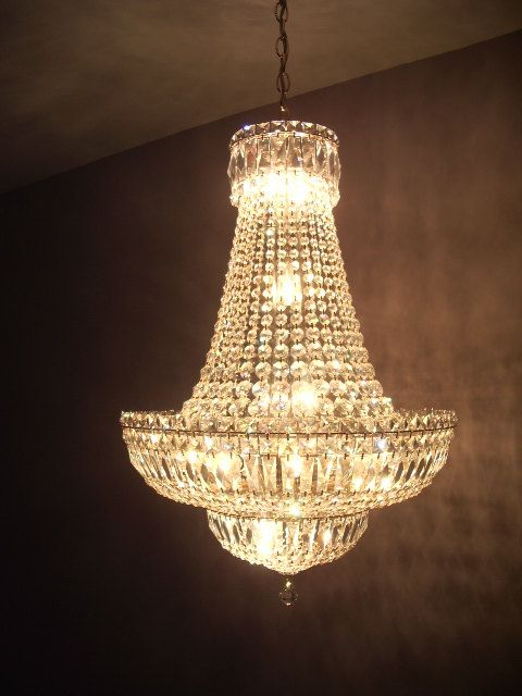 French empire crystal chandelier 18 lights by cerchier on etsy