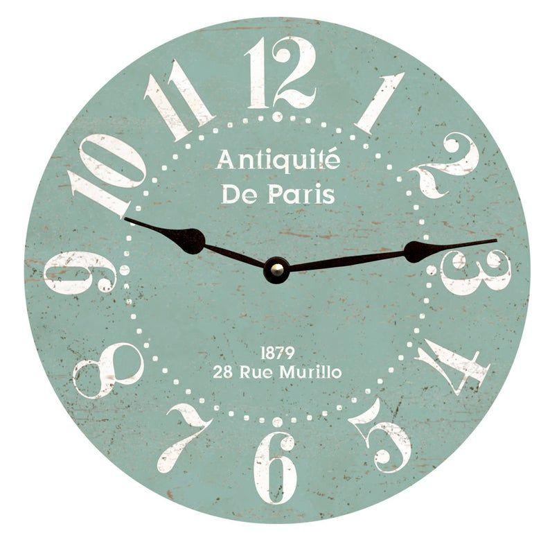French Clock Antiquite De Paris Clock Seafoam Clock Etsy French Clock Clock Quartz Clock Movements