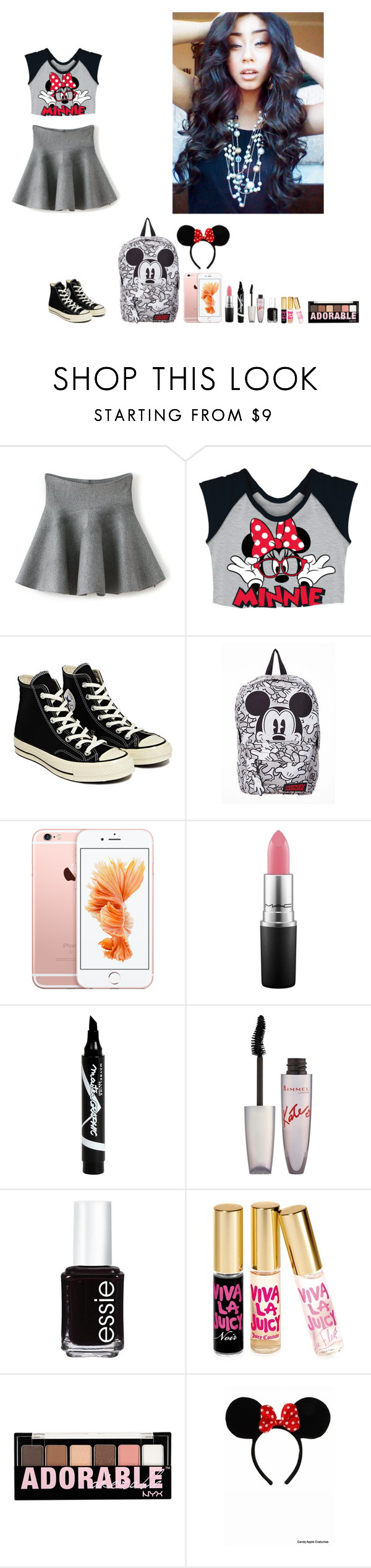 """""""-Krissy"""" by krissyk-15 on Polyvore featuring Converse, MAC Cosmetics, Maybelline, Rimmel, Essie, Juicy Couture, NYX, Disney, women's clothing and women's fashion"""
