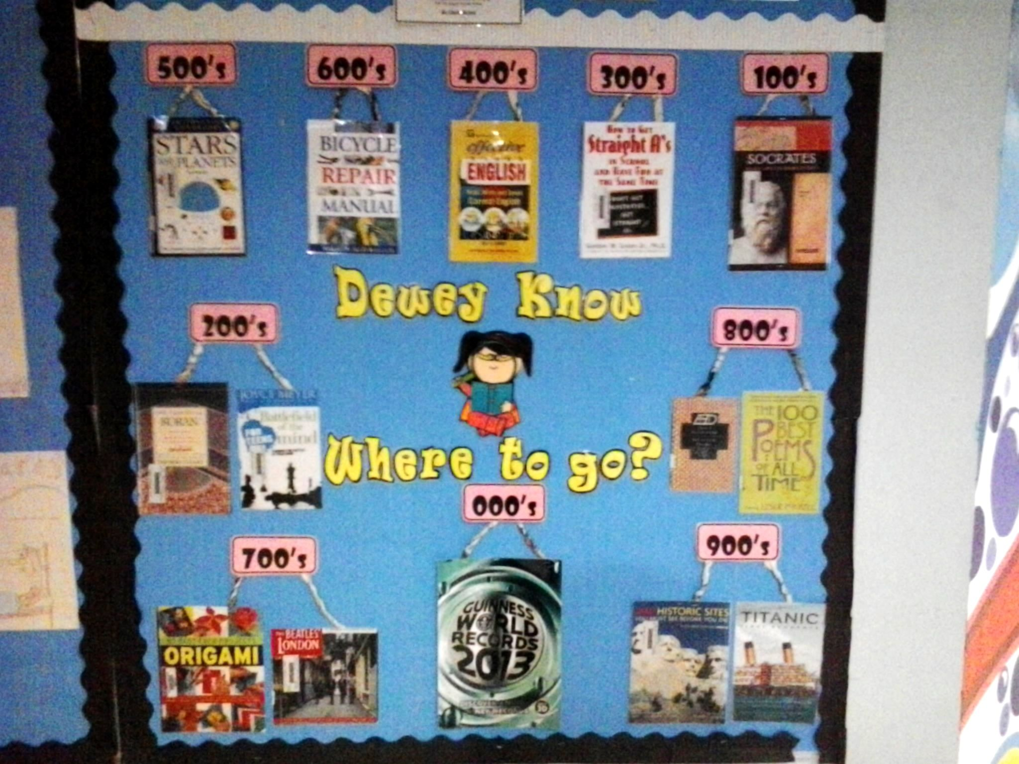 Dewey know where to go?   Library Display   Pinterest   Library ...