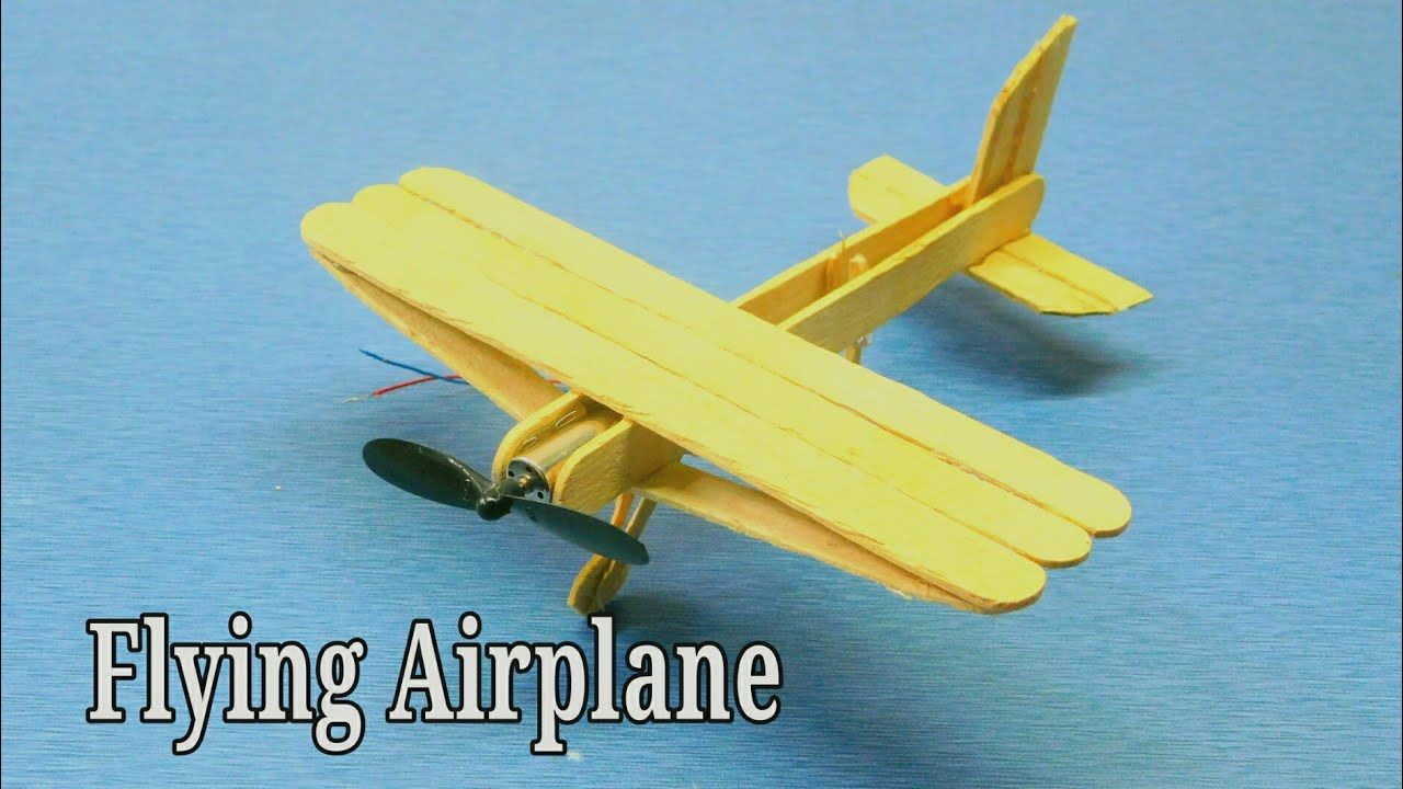 Airplane Themed Kids Crafts In 2020 Popcycle Stick Crafts