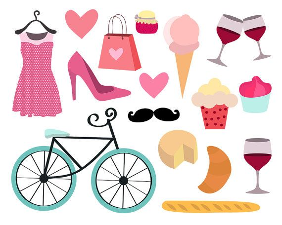 paris clipart feminine clipart girly clipart bike by clipartkiwi rh pinterest ca girl clip art black and white girls clipart