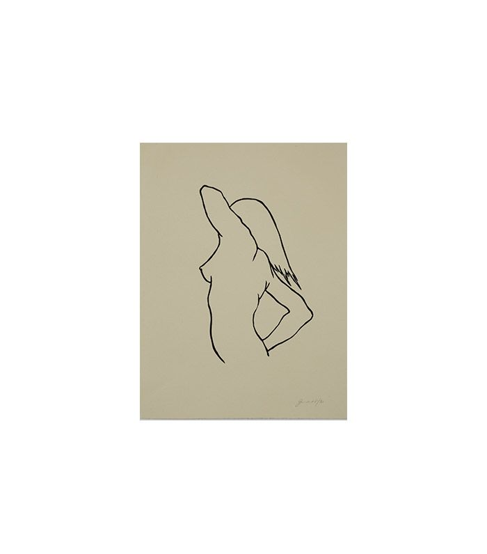 """""""Woman Stretching"""" by Jennifer Ament"""