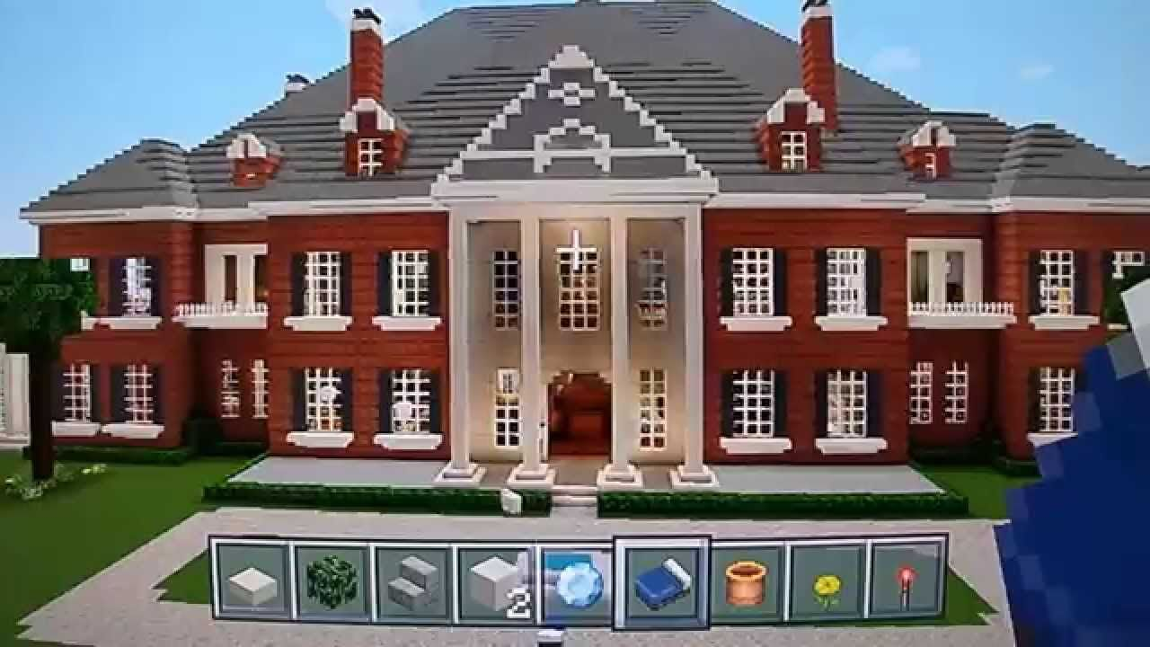 Huge Minecraft Mine Craft Mega Mansion Beautiful Georgian Colonial Designed By XTREME TAKEOVER Epic House With Garage Pool Tennis Hockey Rink