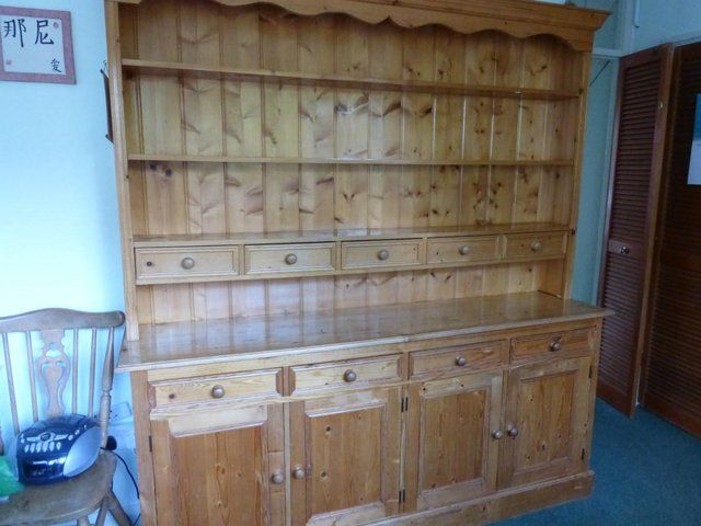 Large Pine Welsh Dresser For Sale Shabby Chic Furniture Household Furniture Welsh Dresser For Sale