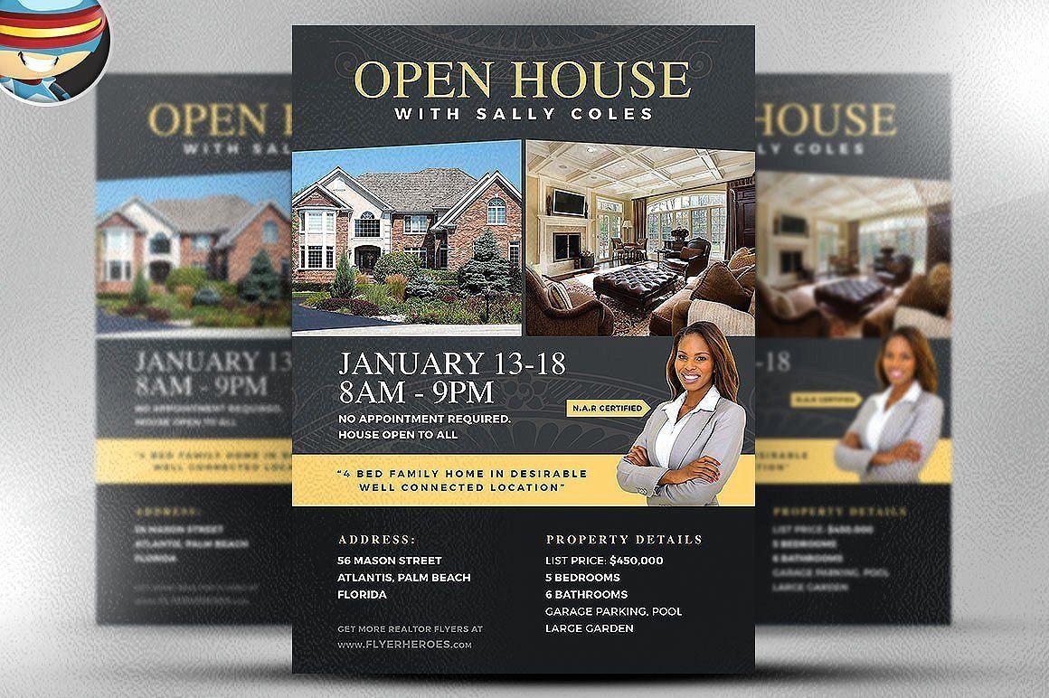 Business Open House Flyer Template Lovely Open House Flyer ...