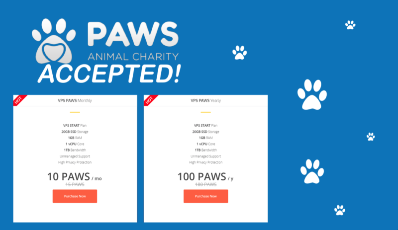 Pay with PAWS for your VPS Paw project, Paw, Paw design