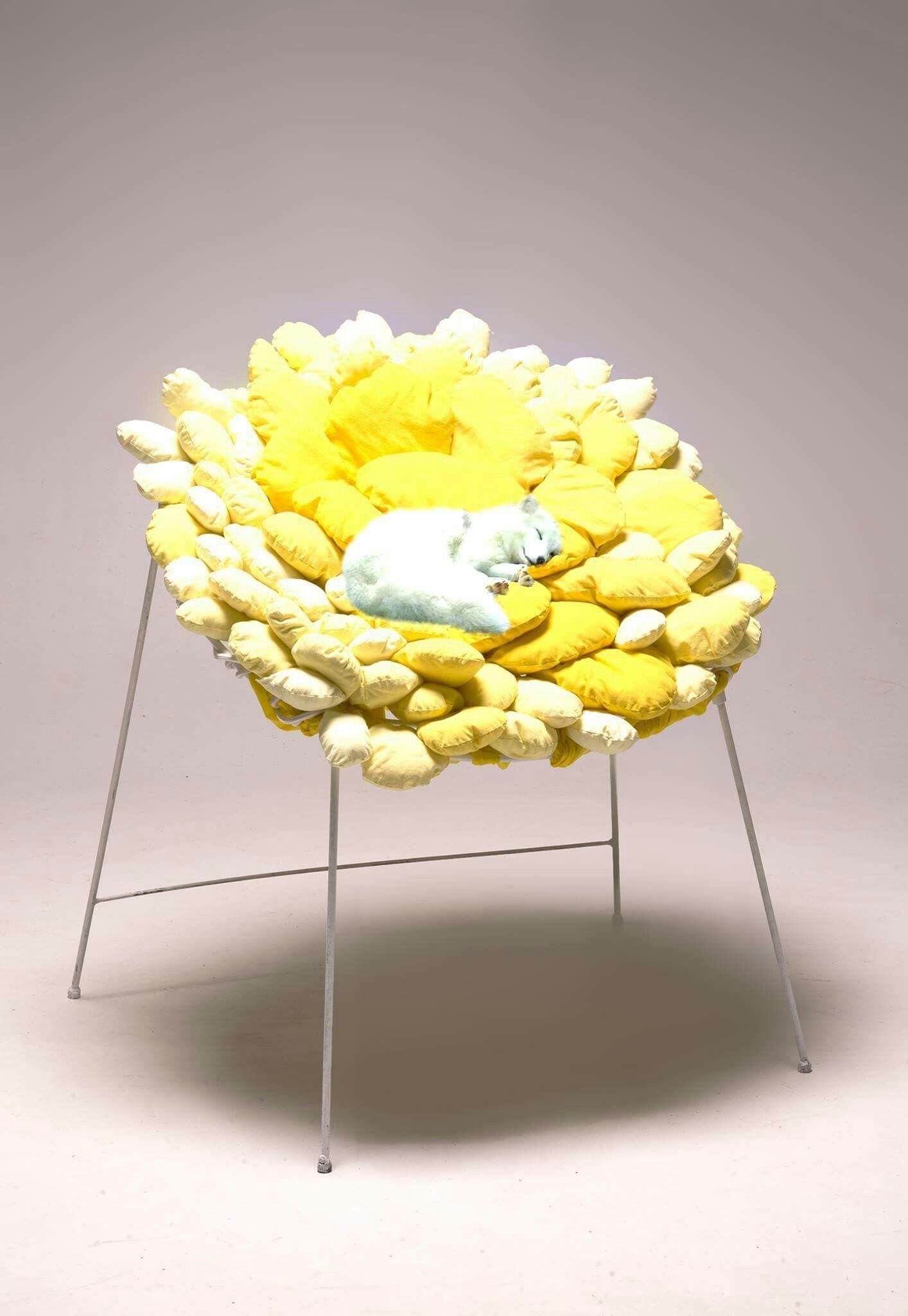 Fauteuil Solis Par Emeline D Carsin Colorful Yellow Chair  # Kowal Muebles De Oficina