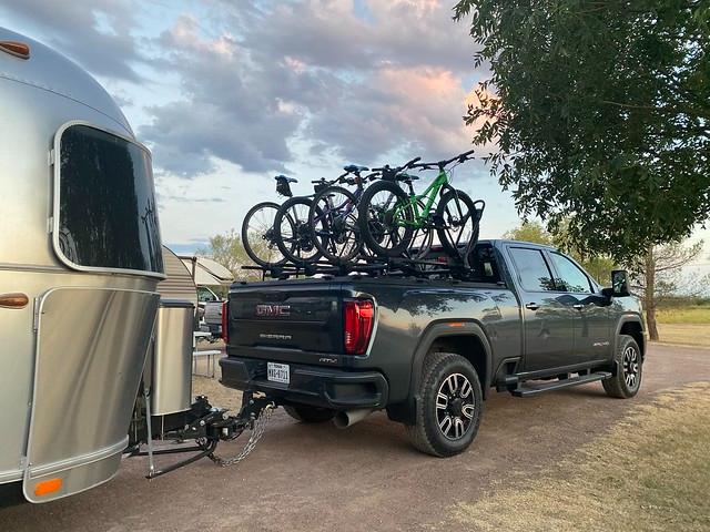 airstream bike rack vs front mount